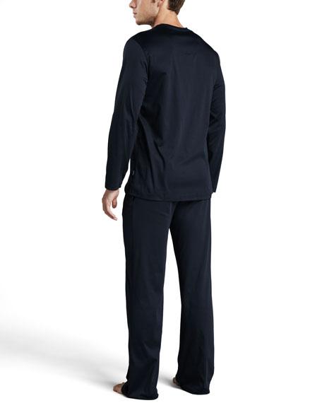 City Blue Long-Sleeve Pajamas