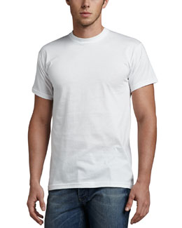 Neiman Marcus Crewneck Tees, Three-Pack