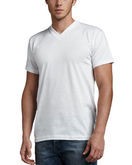 Neiman Marcus V-Neck Tees, Three-Pack