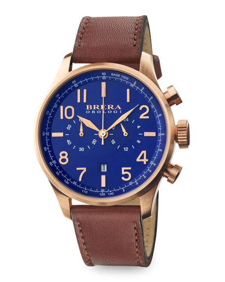 Classico Chronograph Watch, Rose Gold