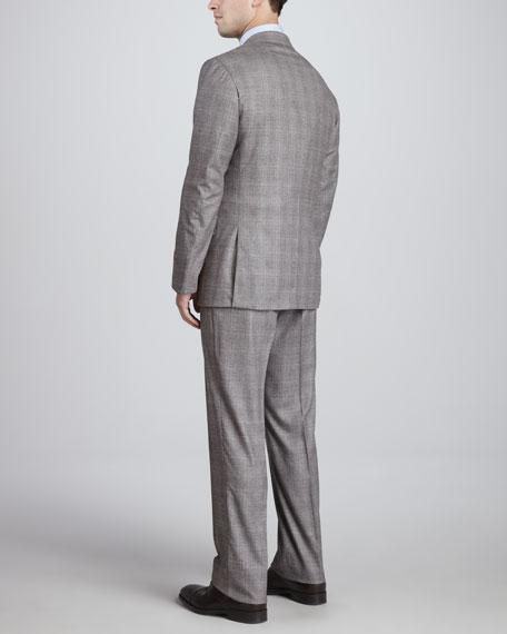 Two-Button Plaid Flannel Suit