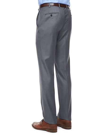 Wool-Twill Dress Pants, Gray