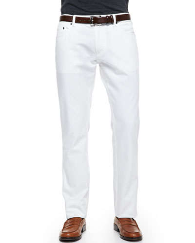 Salvatore Ferragamo 5-Pocket Denim Jeans, White
