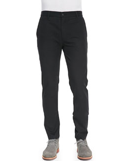 J Brand Jeans Chino Pants with Rivets, Black
