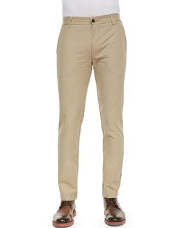 J Brand Jeans Chino Pants with Rivets, Taupe