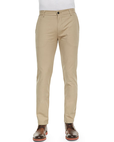 Chino Pants with Rivets, Taupe