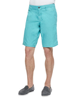 Original Paperbacks Seaside Cotton Shorts, Aqua