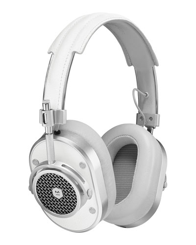 MH40 Over-Ear Headphones, White/Silver