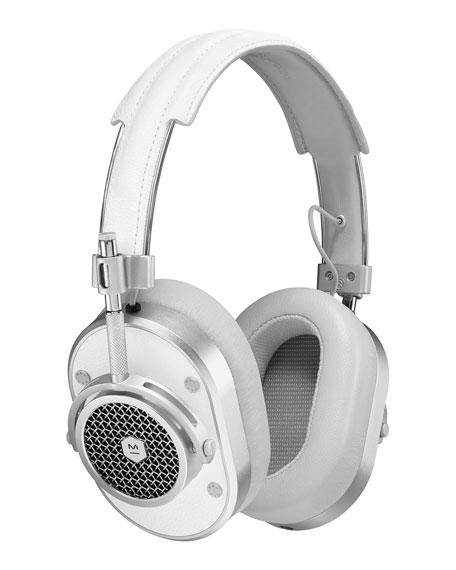 MH40 Over-Ear Headphones, White/Silver