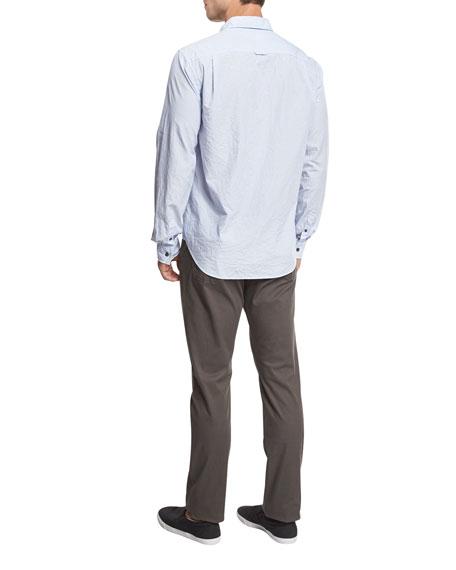 Striped Oxford Shirt, Light Blue