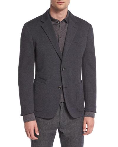 Zegna Zen Wool Blazer, Gray