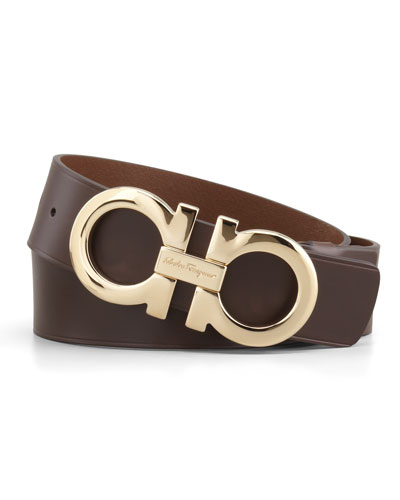 Large-Gancini-Buckle Belt, Tan