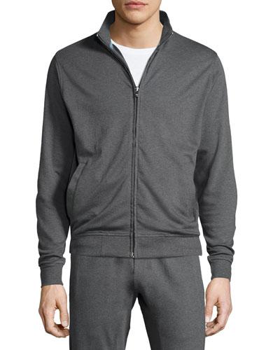 Heather Full-Zip Sweater