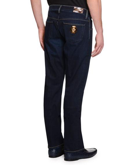 Five-Pocket Slim-Fit Denim Jeans, Blue