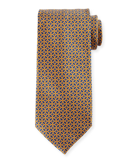 Interlocking Silk Tie