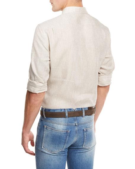 Linen Sport Shirt, Sand