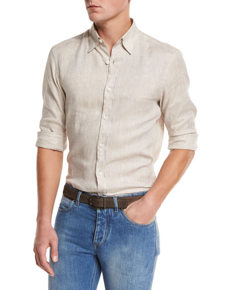 Ermenegildo Zegna Bomber Jacket, Shirt, & Jeans