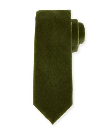 Solid Velvet Tie