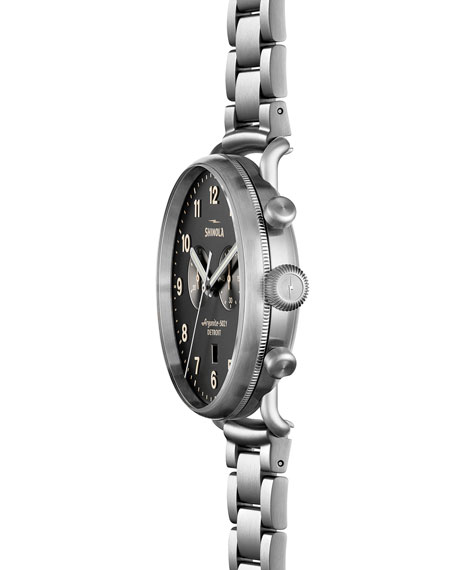 43mm Canfield Chronograph Stainless Steel Watch