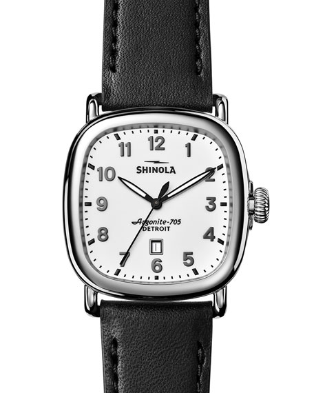 Men's 41mm Guardian Men's Watch, Black/White