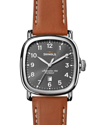 41mm Guardian Men's Watch, Tan Beaumont/Gray