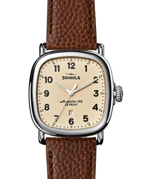 Shinola Men's 41mm Guardian Men's Watch, Brown/Cream