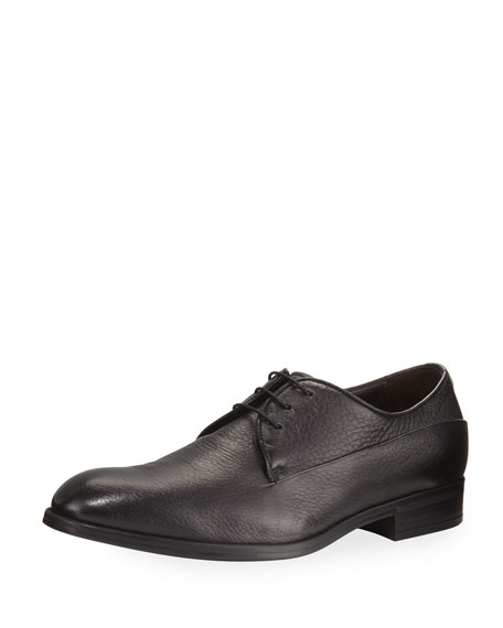 Ermenegildo Zegna Leather Oxford Shoe, Black
