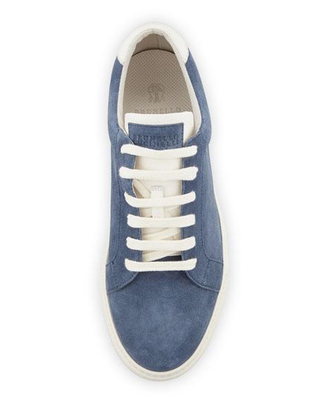 Men's Apollo Suede Sneaker, Blue