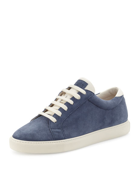 Brunello Cucinelli Men's Apollo Suede Sneaker, Blue