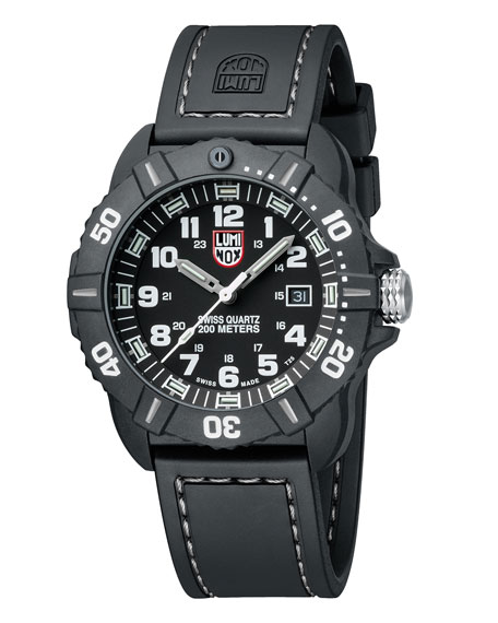 Luminox 44mm Sea Series Coronado 3021 Watch, Silver