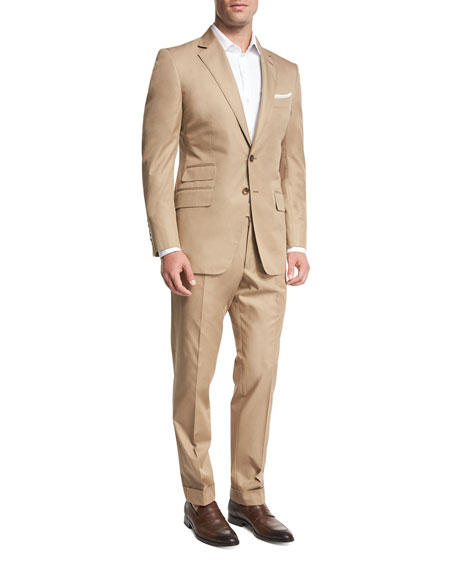 TOM FORD O'Connor Base Solid Cotton Two-Piece Suit,