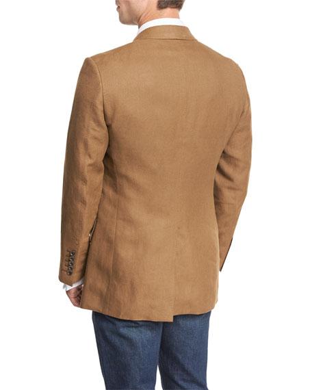 Shelton Linen Peak-Lapel Sport Coat, Tobacco