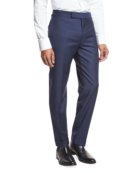 TOM FORD O'Connor Base Solid Trousers, Bright Blue