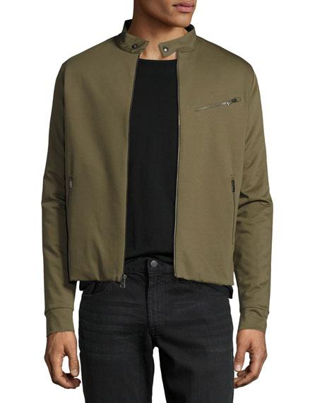 Jersey Moto Jacket, Sage Green