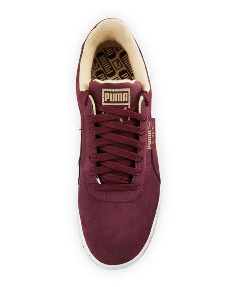 Men's G. Vilas Nubuck Speckle Sneaker, Wine