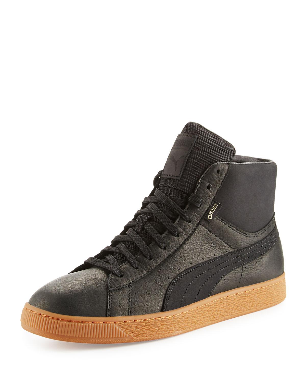 meilleur service 6e965 f2188 Men's Basket GTX® Mid-Top Leather Sneakers, Black