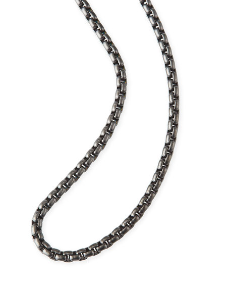 David Yurman Men's 2.7mm Small Box Chain Necklace