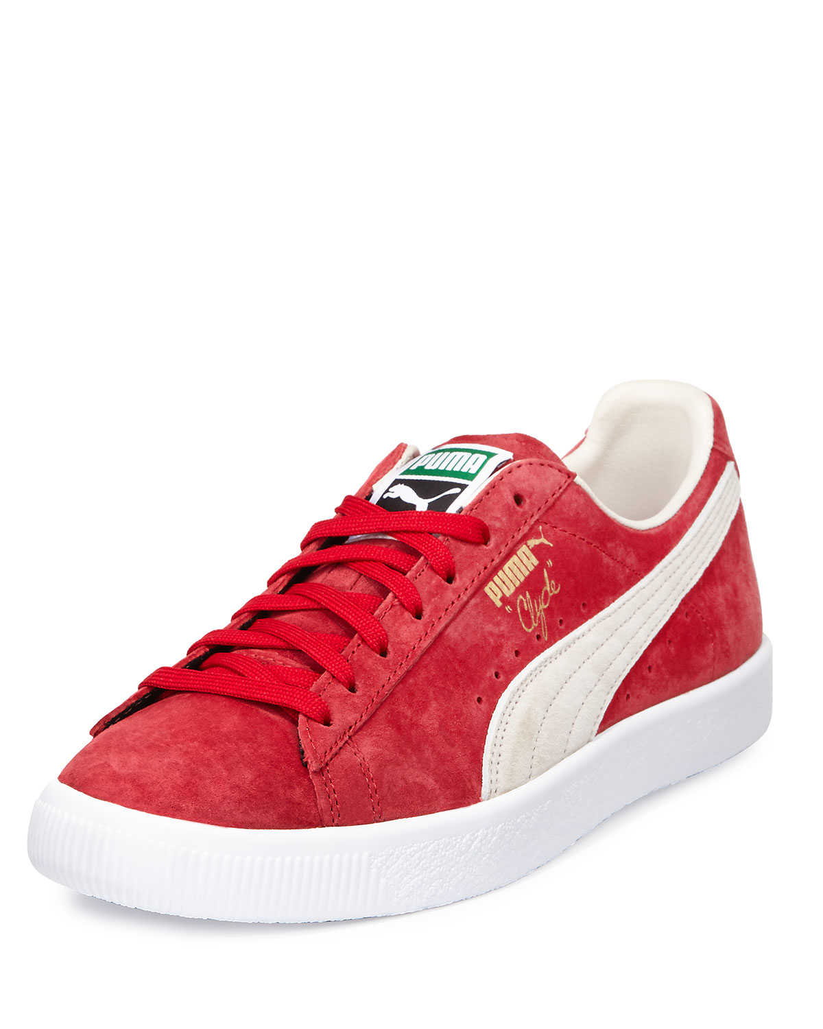 online store fa56b c71b5 Clyde Suede Low-Top Sneaker, Red