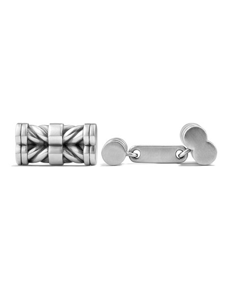 David Yurman 20.8mm Sterling Silver Chevron Cuff Links