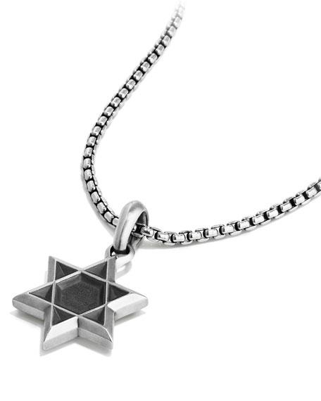 David Yurman Men's 23mm Sterling Silver Star of David Amulet