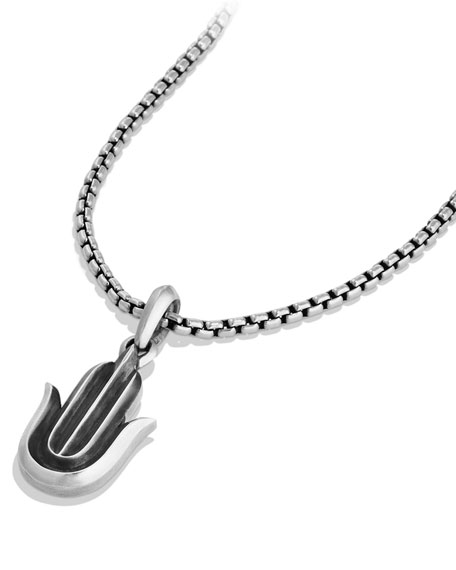 Image 3 of 3: David Yurman Men's 27mm Sterling Silver Hamsa Amulet