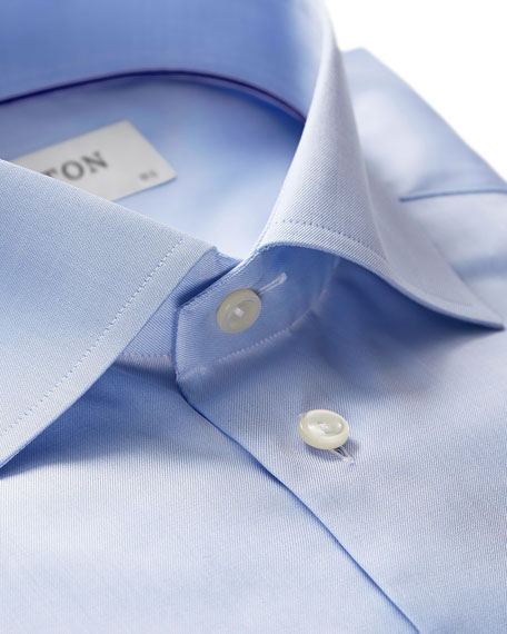 Eton Twill Slim-Fit Dress Shirt