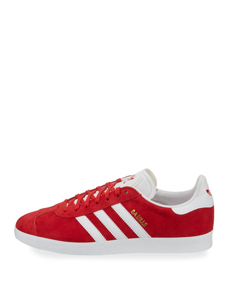 Men's Gazelle Original Suede Sneaker, Red/White