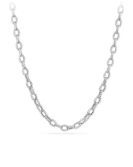 """Men's 22""""L Sterling Silver Continuance Chain Necklace"""