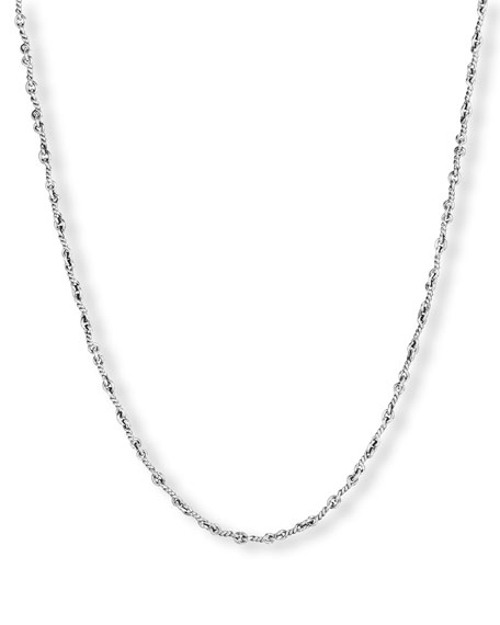 "Men's Sterling Silver Continuance Cable Necklace, 21.8""L"