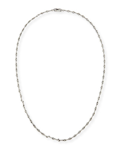 Men's Sterling Silver Continuance Cable Necklace, 25.8