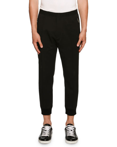 Dsquared2 Stretch-Wool Jogger Pants, Black