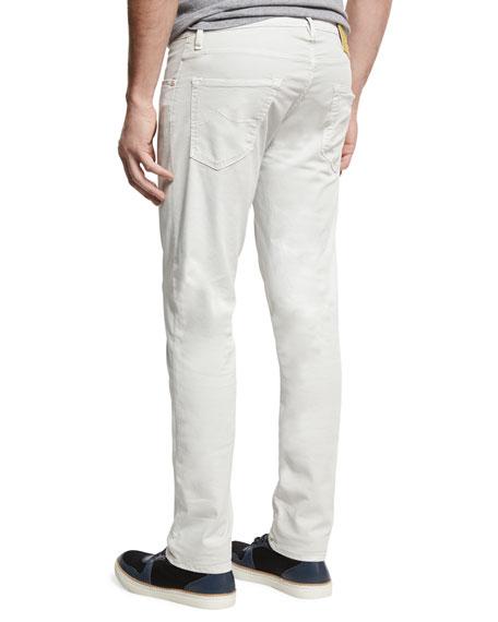 Slim-Straight Soft Stretch Jeans, White