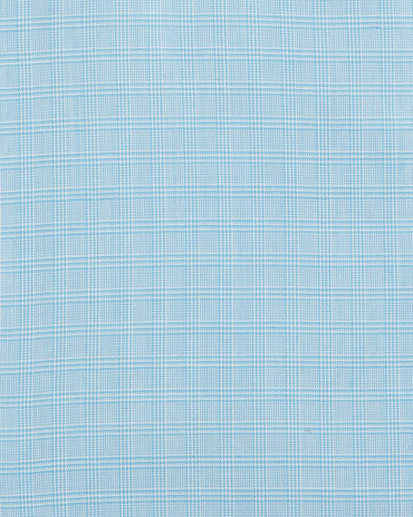 Gold Label Micro-Glen Plaid Dress Shirt, Aqua