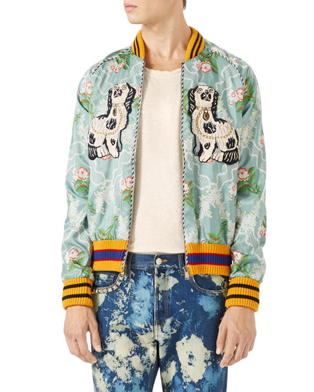 Gucci Floral Jacquard Bomber